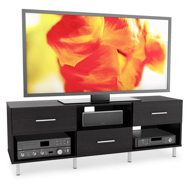 Sonax Sedona Wood Ravenwood Black 60-inch 3-drawer Entertainment Center