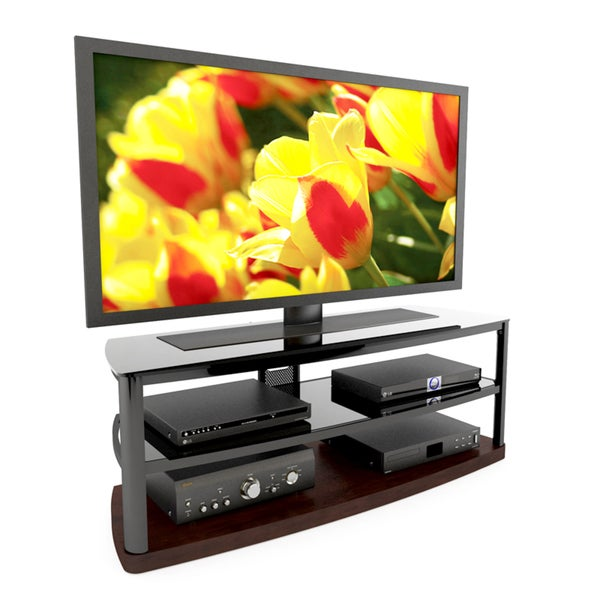 Sonax Bandon Wood Auburn Stained 52-inch Entertainment Center