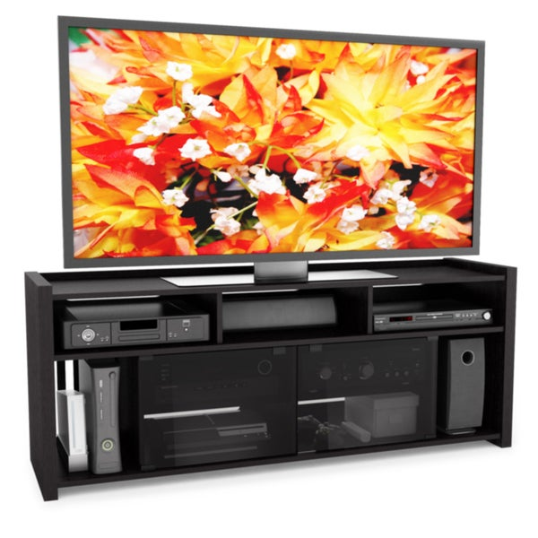 sonax granby wood ravenwood black 60 inch gaming entertainment center free shipping today. Black Bedroom Furniture Sets. Home Design Ideas