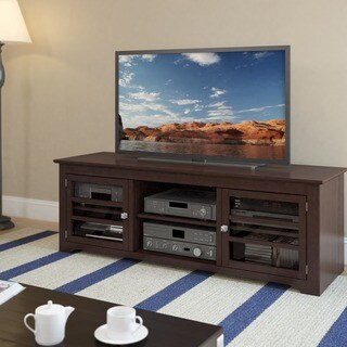"West Lake Dark Espresso Wood Veneer TV Bench, for TVs up to 68"""