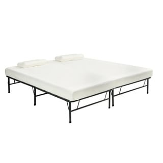 pragma quad fold queen frame with memory foam mattress free shipping today overstockcom 14792366
