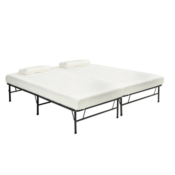pragma bi fold queen frame with memory foam mattress