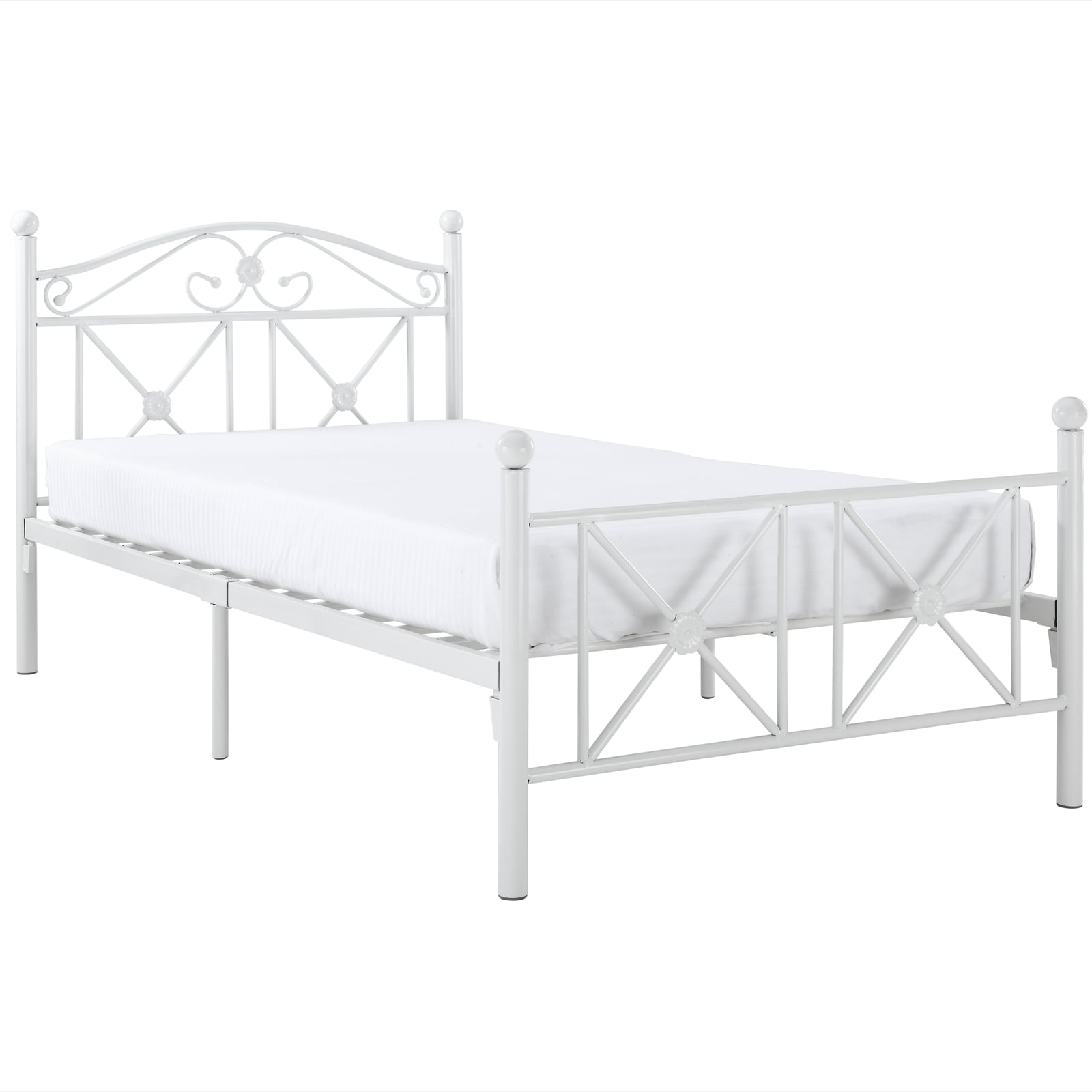 Image of: Shop Black Friday Deals On Country Cottage Iron Twin Bed Frame Overstock 7324602
