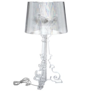 French Grand Acrylic Clear Table Lamp
