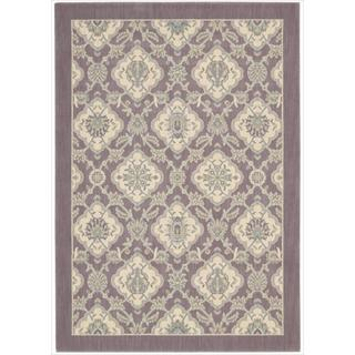 Barclay Butera Hinsdale Violet Area Rug by Nourison (5'3 x 7'5)