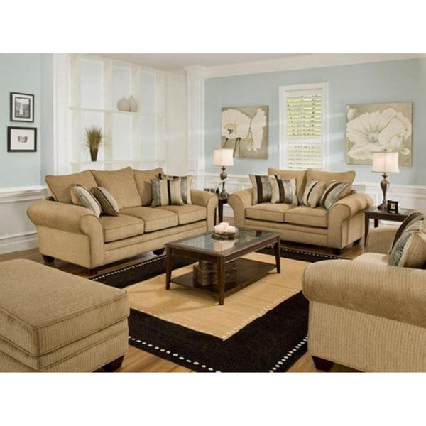 Burlington Waverly Suede Sofa And Loveseat Set Free