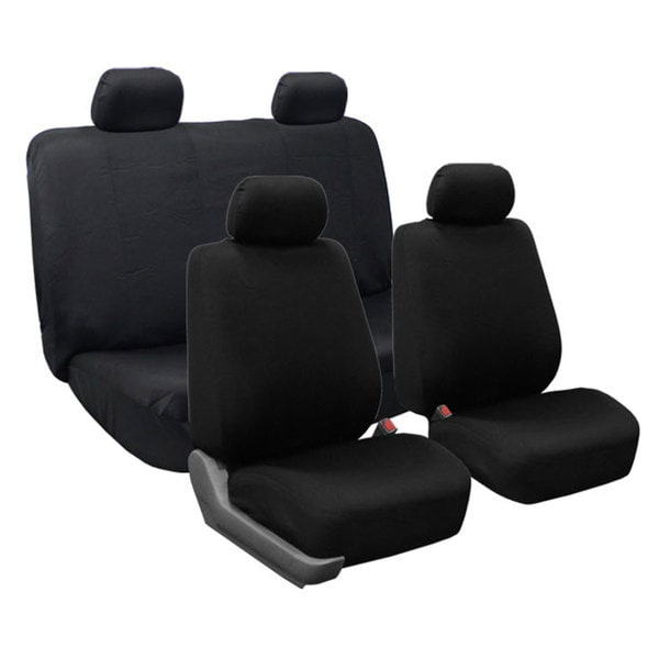 FH Group Black Cloth Universal Car Seat Covers