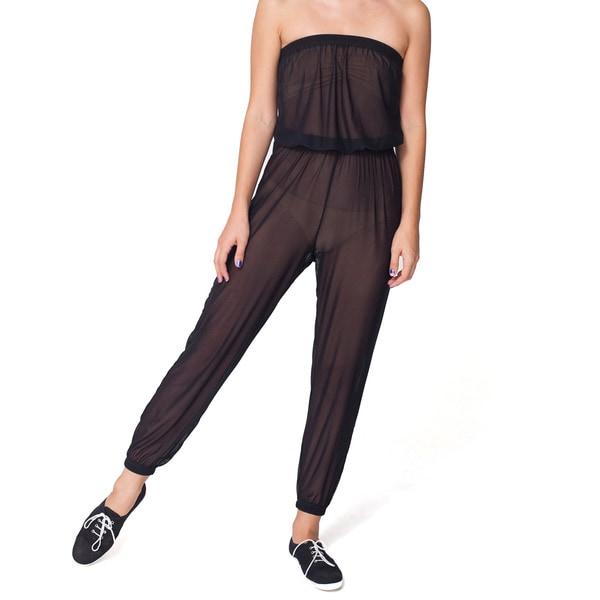 American Apparel Women's Micro-Mesh Jumpsuit