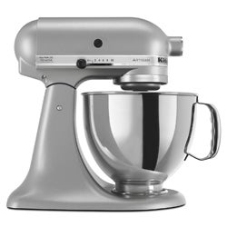 KitchenAid RRK150SM Silver Metallic 5-quart Artisan Tilt-Head Stand Mixer (Refurbished)