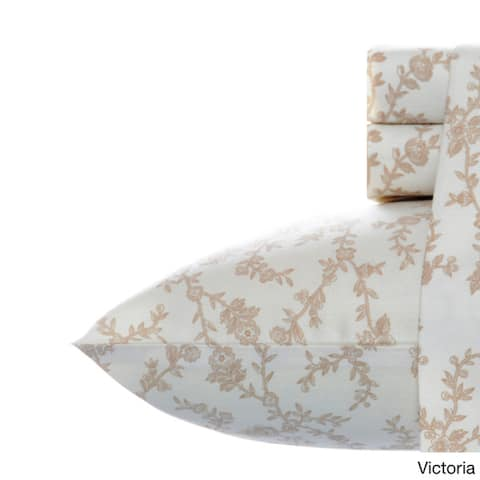 Laura Ashley 300 Thread Count Cotton Bed Sheet Set