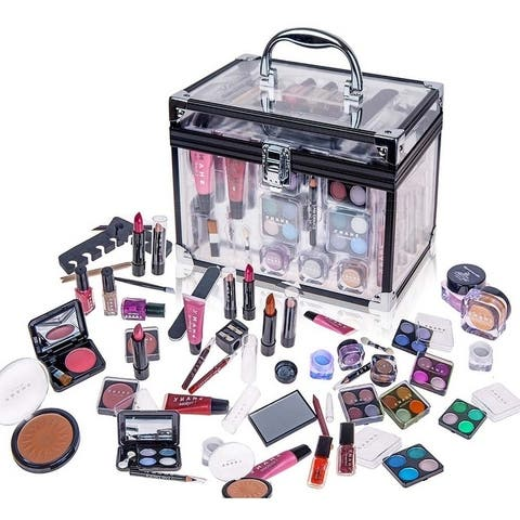 SHANY Carry All Trunk Makeup Set (Eye shadow palette/Blushes/Powder/Nail Polish