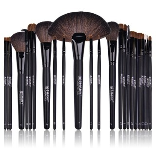 SHANY Studio Quality Natural Cosmetic Brush Set with Leather Pouch (24 Count)