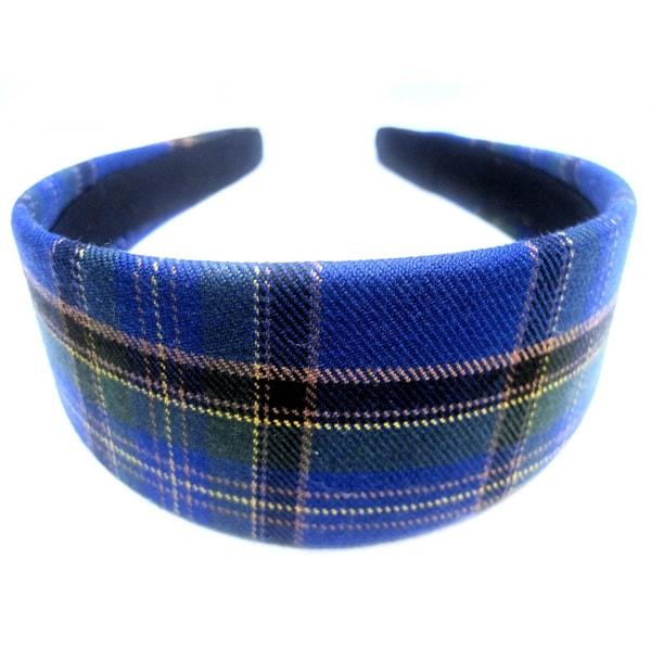 Crawford Corner Shop Marine Blue Green Plaid Headband