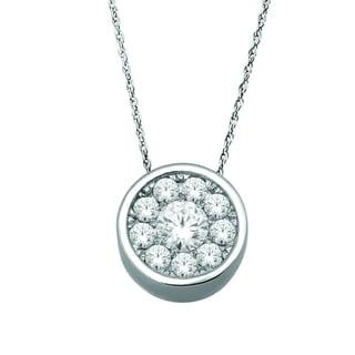 De Couer 10k White Gold 1/4ct TDW Diamond Necklace