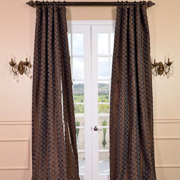 Exclusive Fabrics Rosetta Chestnut Faux Silk Curtain Panel