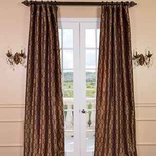 Exclusive Fabrics Meridian Chocolate Bronze Faux Silk Curtain Panel