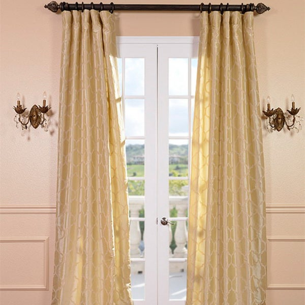 Exclusive Fabrics Marakesh Sand Faux Silk Curtain Panel
