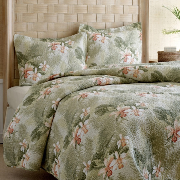 Tommy Bahama Tropical Orchid 3-piece Quilt Set