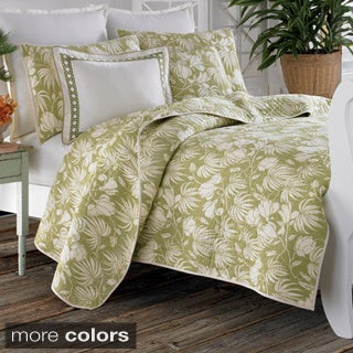 Shop Tommy Bahama Plantation Floral 3 Piece Quilt Set