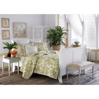 Tommy Bahama Plantation Floral 3-piece Quilt Set