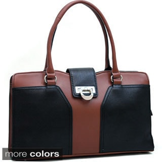 Dasein Classic Color-block Faux Leather Shoulder Bag
