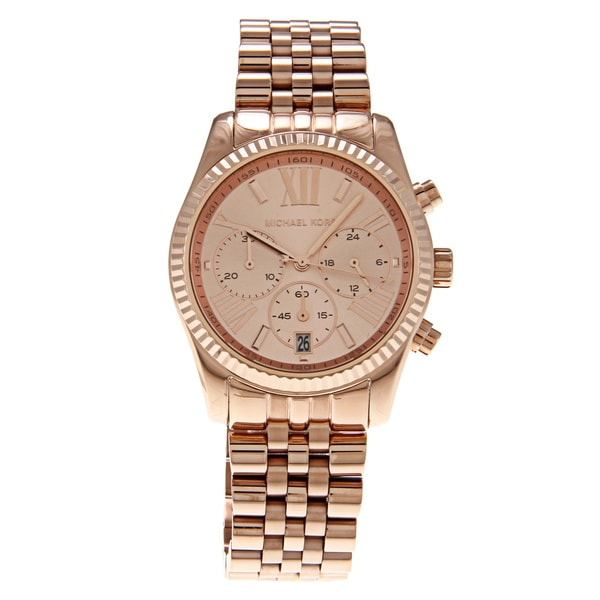 Michael Kors Women's 'MK5569' Stainless Steel Rose Goldtone Watch