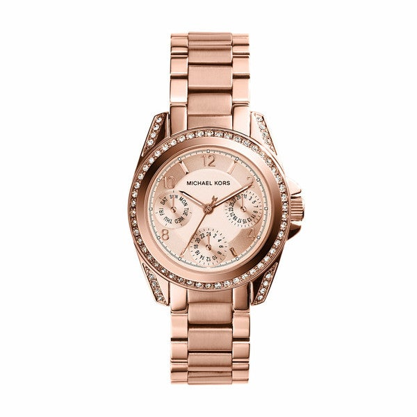 Michael Kors Women's MK5613 Mini Blair Rosegold Tone Watch