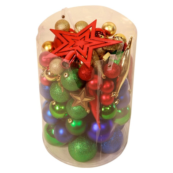 Bright Multi 100-piece Christmas Ornament Kit