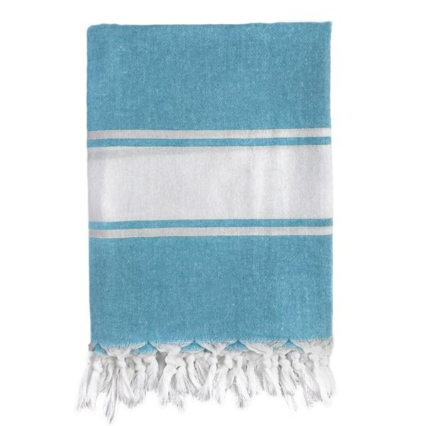Classic Blue Stripe Turkish Fouta Bath/ Beach Towel
