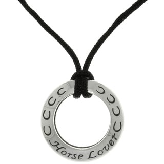 Carolina Glamour Collection Sterling Silver Horse Lover Ring Pendant Necklace