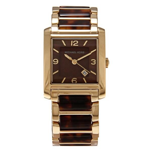 Michael Kors Women's 'MK4242' Stainless Steel Brown Dial Watch