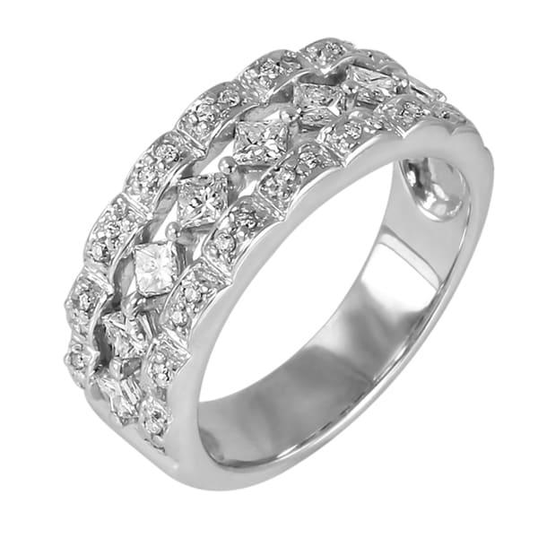 14kt White Gold 5/8ct TDW Diamond Ring (H-I, I1-I2)