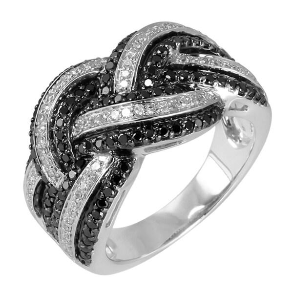14k White Gold 1ct TDW Diamond Knot Ring (H-I, I1-I2)