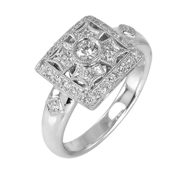 14kt White Gold 1/3ct TDW Diamond Ring (G-H, SI1-SI2)