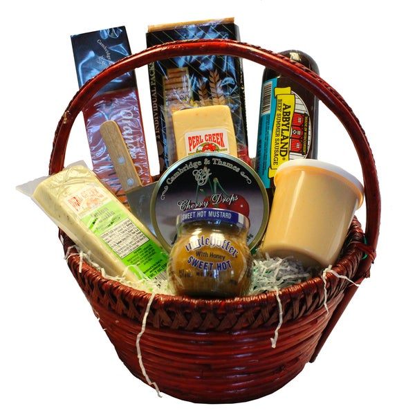 Deli Direct Wisconsin Cheese and Sausage Small Gift Basket