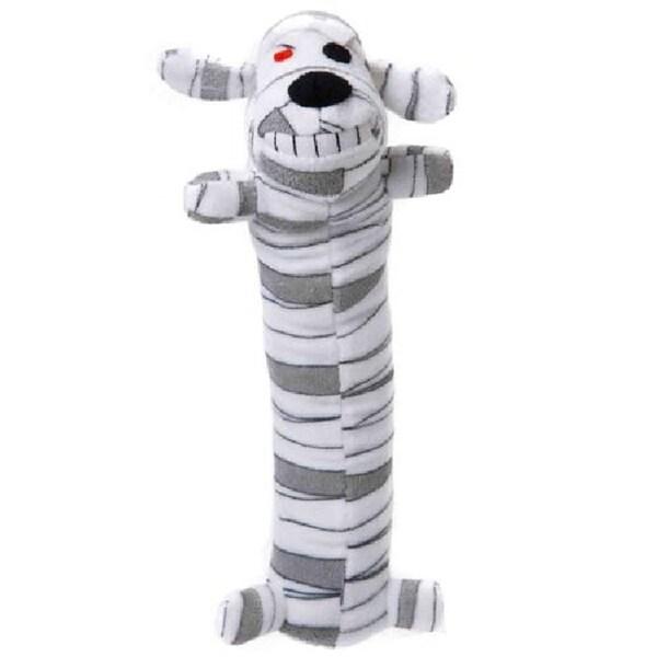 Loofa Dog Halloween 12-inch Plush Mummy Dog Toy