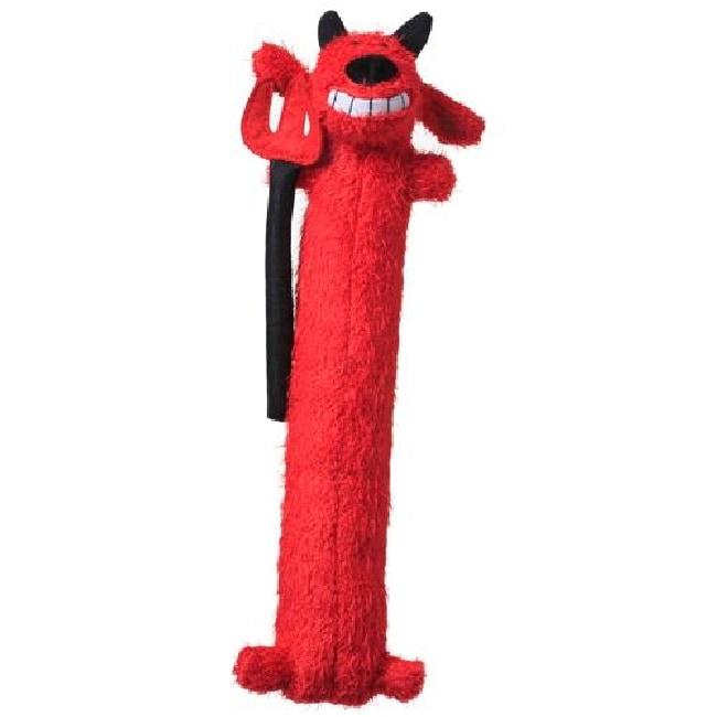 Multipet Loofa Dog Halloween 12-inch Plush Devil Dog Toy,...