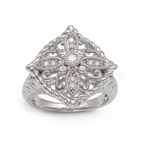Sterling Silver 1/6ct TDW Round-cut Diamond Ring (H-I, I2-I3)