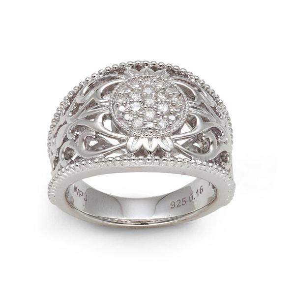 Sterling Silver 1/6ct TDW Diamond Ring (H-I, I2-I3)