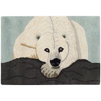 Handmade Safavieh Wildlife Polar Bear Wool Rug - 2' X 3'