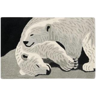 Handmade Safavieh Wildlife Polar Bears Wool Rug - 2' x 3'