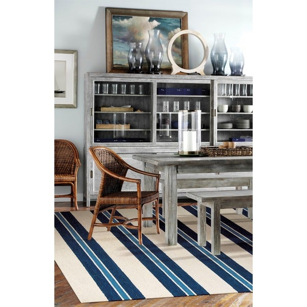 """Barclay Butera Oxford Awning Stripe Area Rug by Nourison (5'3 x 7'5) - 5'3"""" x 7'5"""""""