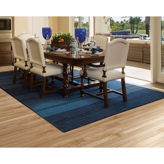 Barclay Butera Oxford Mediterranean Stripe Area Rug by Nourison (3'6 x 5'6)