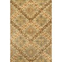 Hand-tufted Ferring Sage Wool Rug - 7'10 x 11'