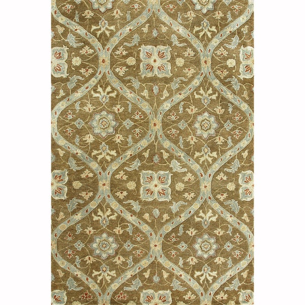 Hand-tufted Ferring Mocha Wool Rug - 7'10' x 11'