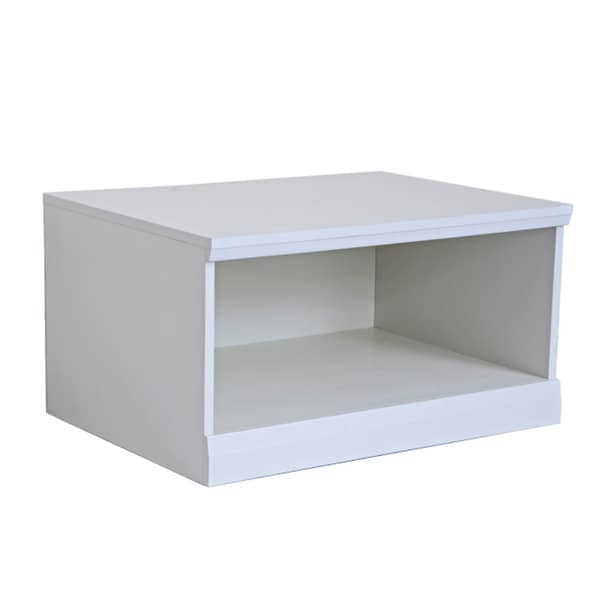 'Makena' White Open Modular Storage Base