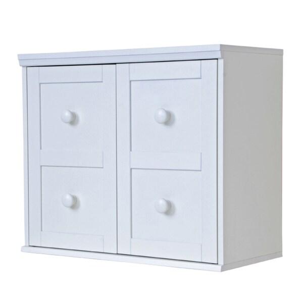 'Makena' White Modular Storage Shelf