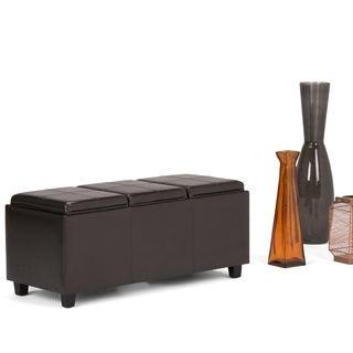 WyndenHall Franklin Storage Ottoman with 3 Serving Trays (More options available)