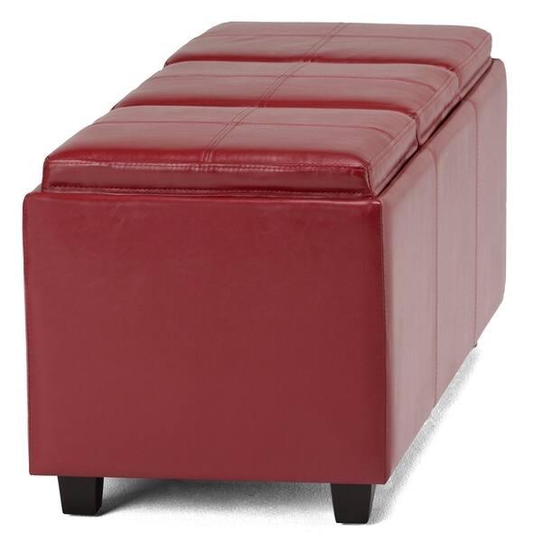 Incredible Shop Wyndenhall Franklin Storage Ottoman With 3 Serving Machost Co Dining Chair Design Ideas Machostcouk