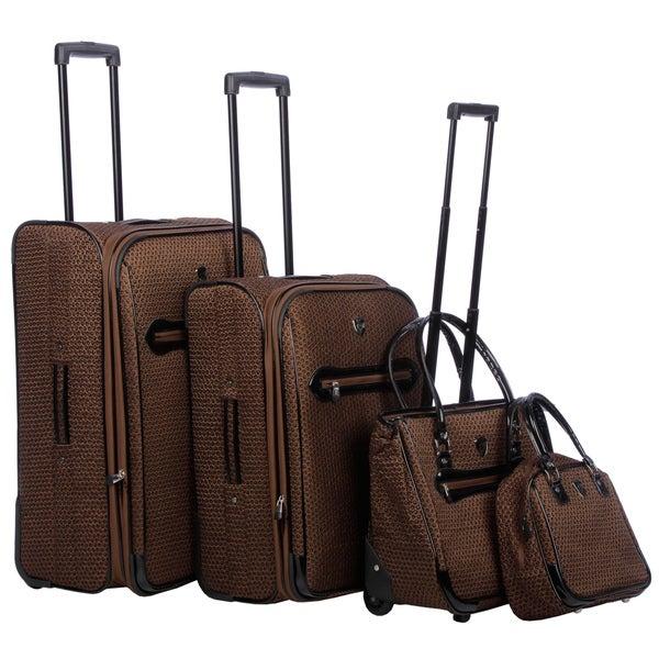 Heys USA Brown 4-piece Luggage Set